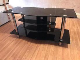 NEARLY NEW 3 TIER GLASS TV STAND- RRP £220 QUICK SALE £100 BARGIN