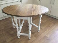 Oak tables.