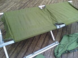 army Issue Folding Cot Bed Heavy Duty Aluminium Camp Army / Military Surplus