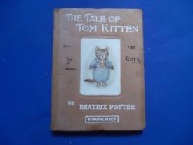 The Tale of Tom Kitten by Beatrix Potter. Early edition book
