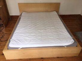 Ikea Malm kingsize bed + mattress + topper