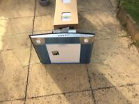 Zanussi Curved Glass 90cm Chimney Cooker Hood New and Unused