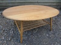 Fully Refurbished - Hand Stripped - Ercol Solid Elm 454 Windsor Coffee Table - Osmo Polyx Oil