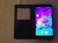 Samsung Galaxy Note 4 - 32GB -Unlocked, Black with S-View Cover