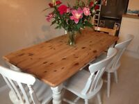 Shabby Chic French Country Dining Kitchen Table