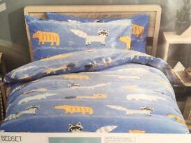NEXT NEW Boys Children Bedding Set SINGLE bedset bed set Duvet Pillowcase Wild Animal