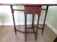 Oak folding Side Table