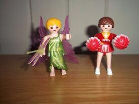 Playmobil cheerleader and fairy