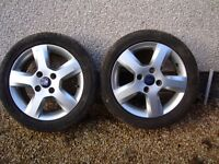 """Two 15"""" Alloy wheels to suit Ford Fiesta"""