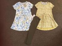 Next tunic dresses and matching leggings, new with tags 3-4 years