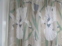 1 pair of Laura Ashley fully lined orchid detailed curtains