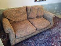 2 patterned couches