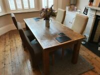 Large, traditional solid oak dining table - COLLECTION ONLY