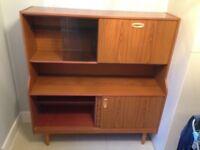 Vintage 1960 1970 Display Sideboard Cabinet Retro