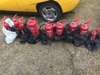 Brand new fire extinguishers x9