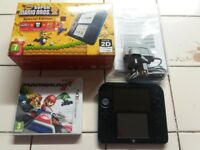 Nintendo 2ds with pre installed Super Mario Bros 2 and comes with Mariokart 7