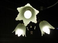 3 branch flower petal light unit