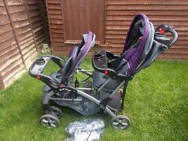 double sit n stand pushchair