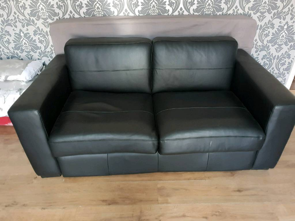 Pleasing Black Leather Sofa Bed In Bolton Manchester Gumtree Camellatalisay Diy Chair Ideas Camellatalisaycom