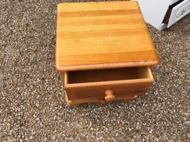 2 Draw Solid Pine Bedside Cabinet