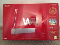 Nintendo Wii 25th Annversary Edition In Red