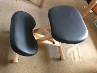 Wooden Kneeler Chair (Ergonomic) - excellent condition