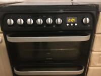 Used Dual Fuel Hotpoint double oven - freestanding