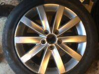 Two Alloy wheels,