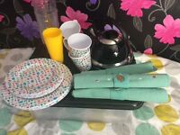 Camping kitchen items