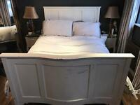 Double Victorian shabby chic bed