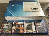 Playstation 4 (PS4) White 500gb with Games