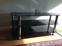 TV stand -Black tempered glass