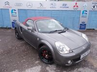 PART X DIRECT OFFERS A TOYOTA MR2 VVT-I RED CONVERTIBLE WITH A NEW MOT AND SERVICE!!