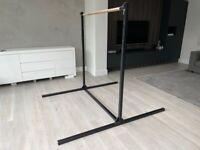 Adjustable hight gymnastics bar, wood/black metal, £135