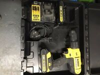 DEWALT 18V LITHIUM COMBI DRILL, BATTERY x2 & CHARGER