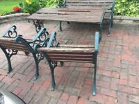 Good Quality Heavy Cast Iron Garden Furniture Patio Set Can Deliver