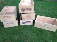 Wooden Wine Boxes, Hampers, Christmas gifts, storage etc...
