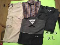 Men's bundle of clothing size L and 34