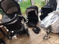 3 in 1 travel system mamas and papas sola Pushchair