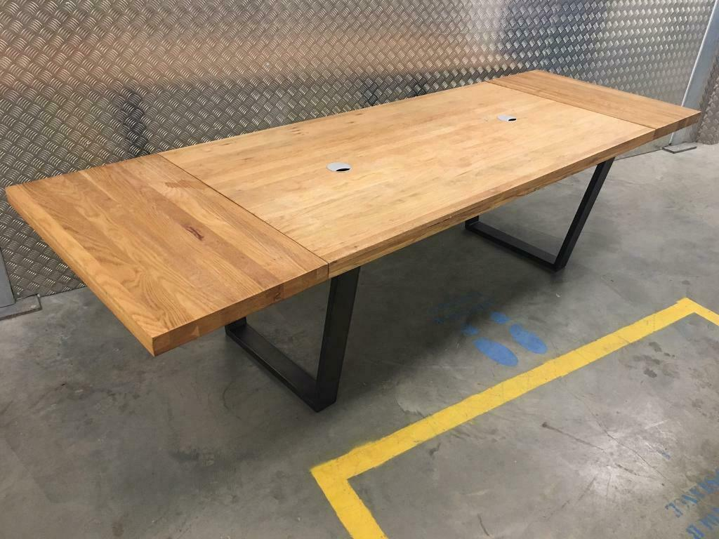 john lewis calia solid oiled oak extending kitchen dining