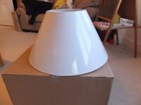 New Lamp Shade, John Lewis, Boxed, 27cm height, 50cm wide (bottom), 22cm (top)