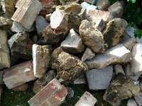 Brick & concrete rubble hardcore