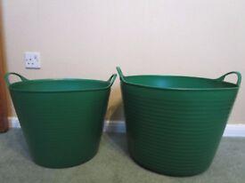 2 Storage Tubs