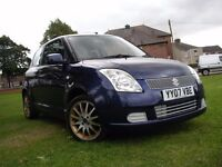 SUZUKI SWIFT 1.3 GL, 2007, MOT AUG 2017, FSH, 73K MILES, HPI CLEAR, MAY P/EX