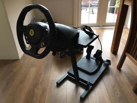 Xbox 360 gaming wheel and stand