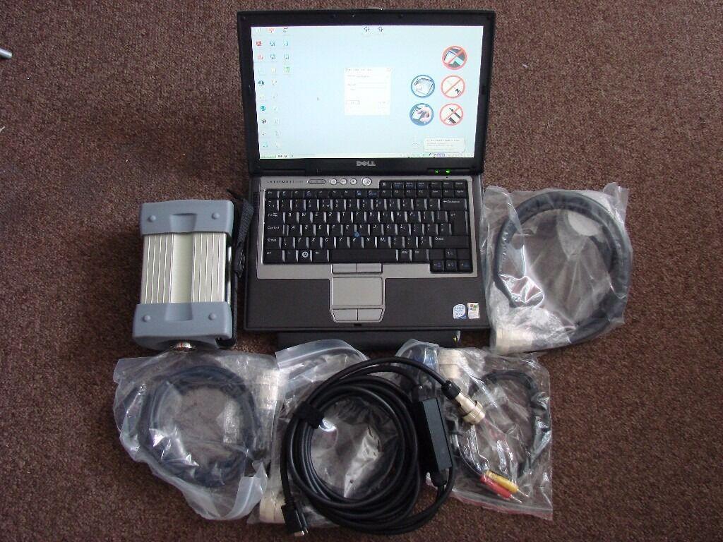 mb star c3 mercedes diagnostic full set + dell d630 laptop