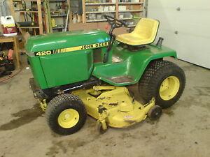 Wanted John Deere 430 420 Garden Tractor Parts Outdoor Tools Storage Calgary Kijiji