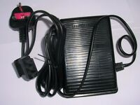 FOOT PEDAL & SPEED CONTROL + LEAD FOR JANOME & ELNA, JUKI, SINGER SEWING MACHINE (E Type)