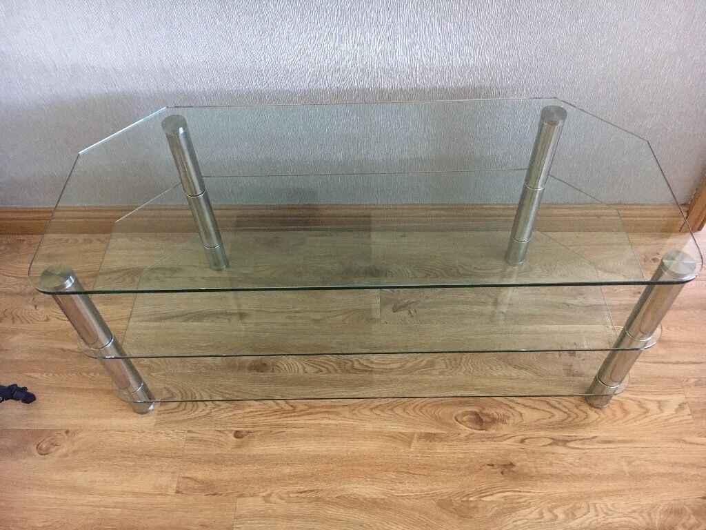 Glass tv table in Bessbrook County Down