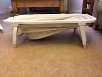 Karibu Folding Bath (White) - Used but in Great Condition